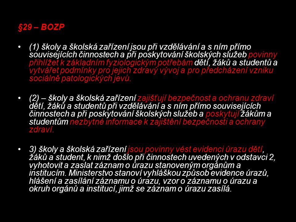 §29 – BOZP