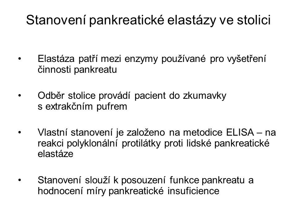 Stanovení pankreatické elastázy ve stolici