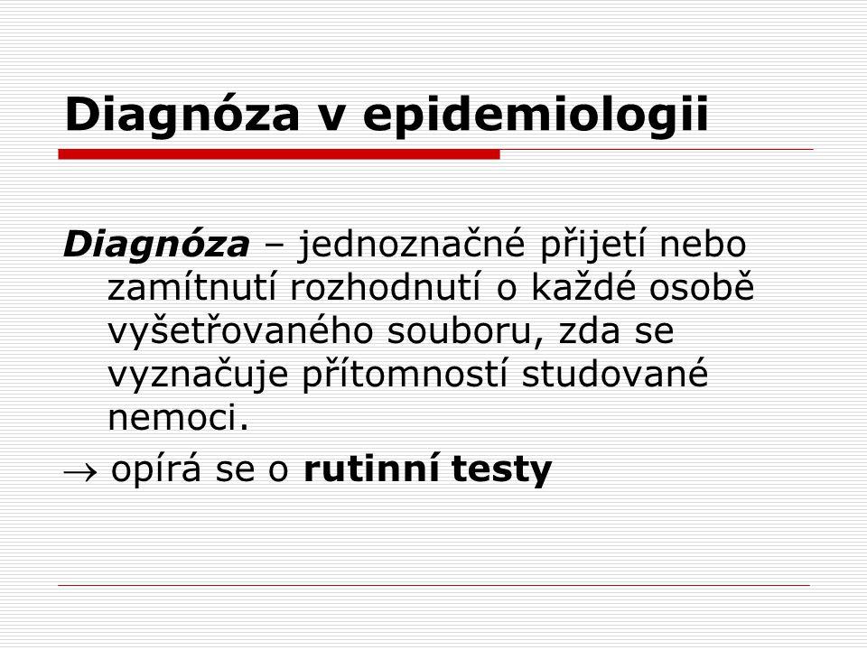 Diagnóza v epidemiologii