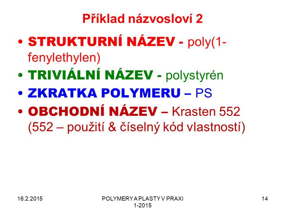 POLYMERY A PLASTY V PRAXI 1-2015