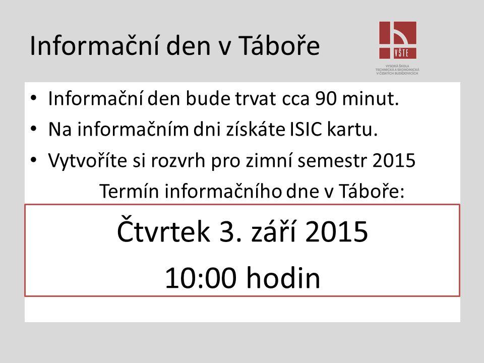 Informační den v Táboře