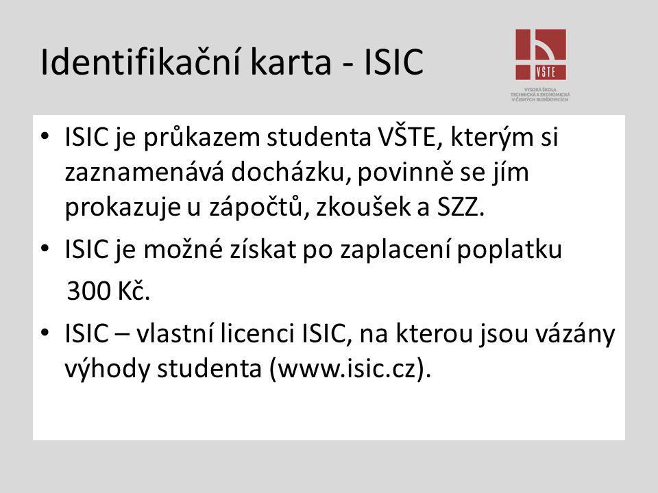 Identifikační karta - ISIC