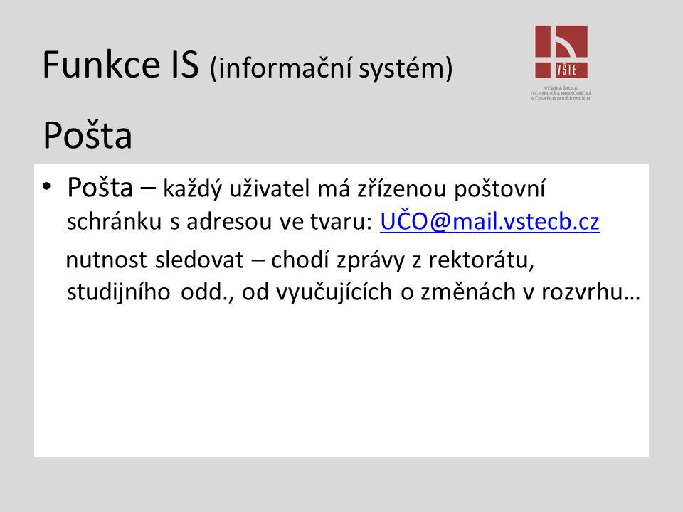Funkce IS (informační systém)
