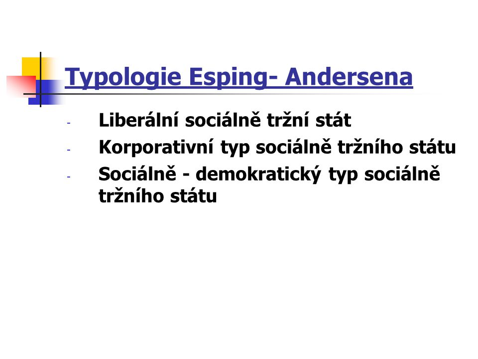 Typologie Esping- Andersena