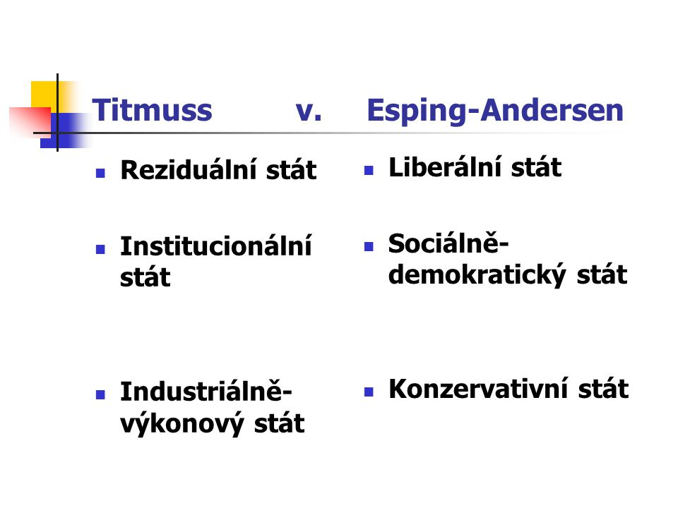 Titmuss v. Esping-Andersen