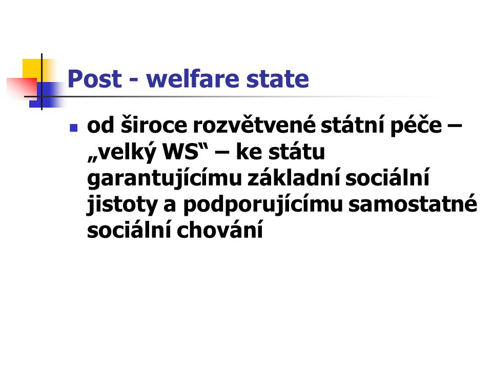 Post - welfare state
