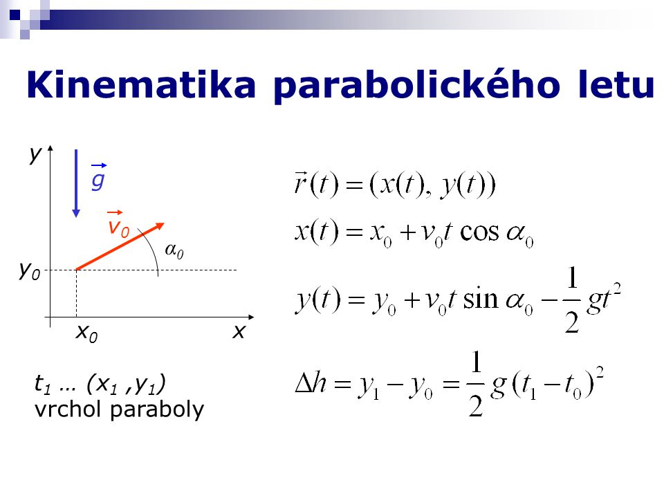 Kinematika parabolického letu