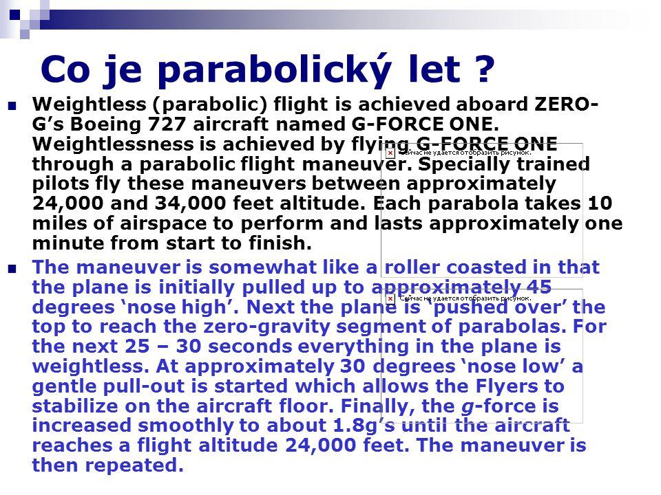 Co je parabolický let