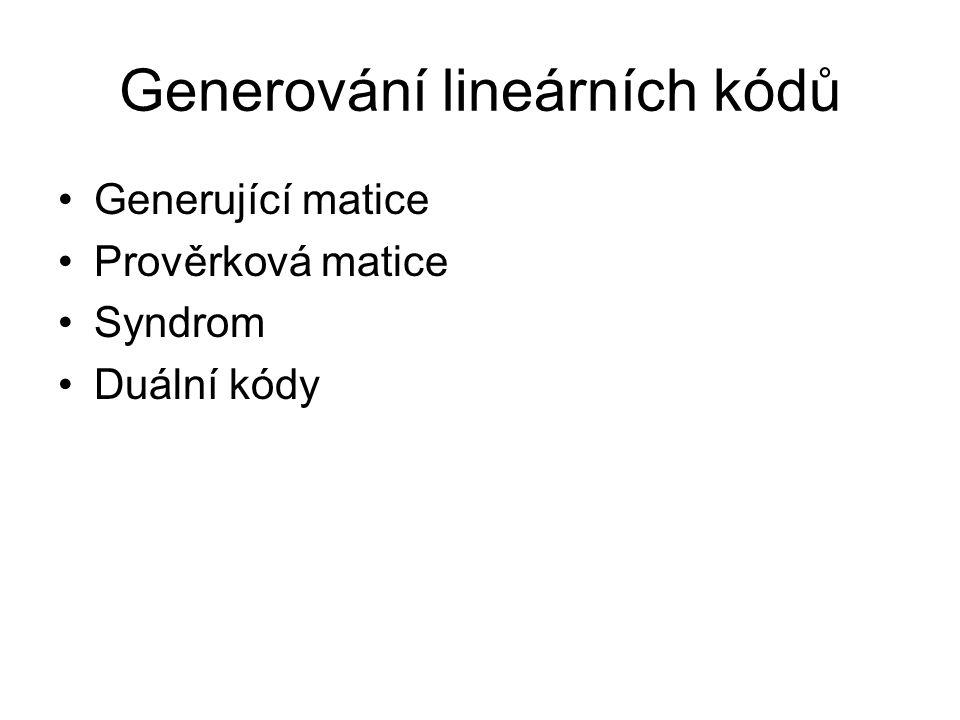 Generování lineárních kódů