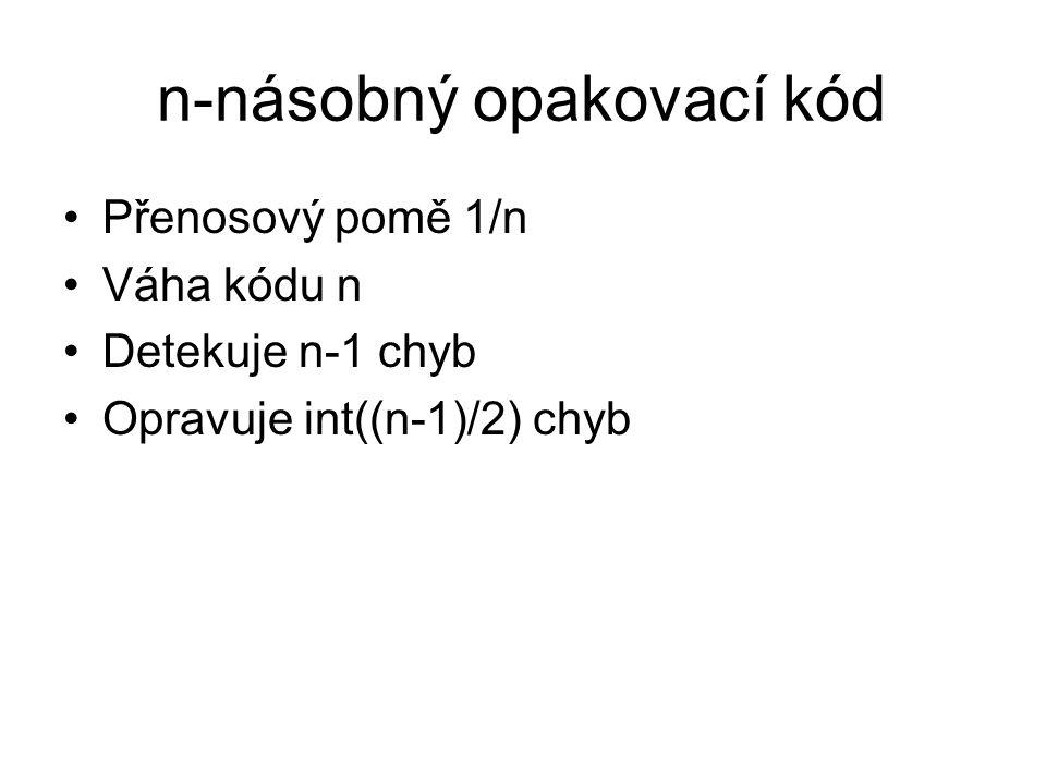 n-násobný opakovací kód