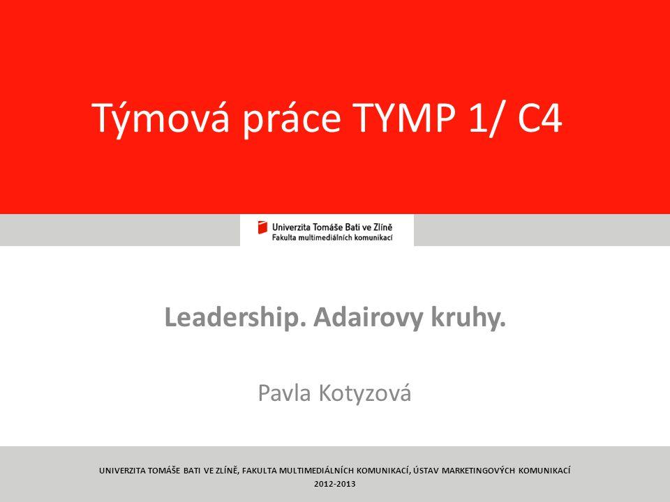 Leadership. Adairovy kruhy. Pavla Kotyzová