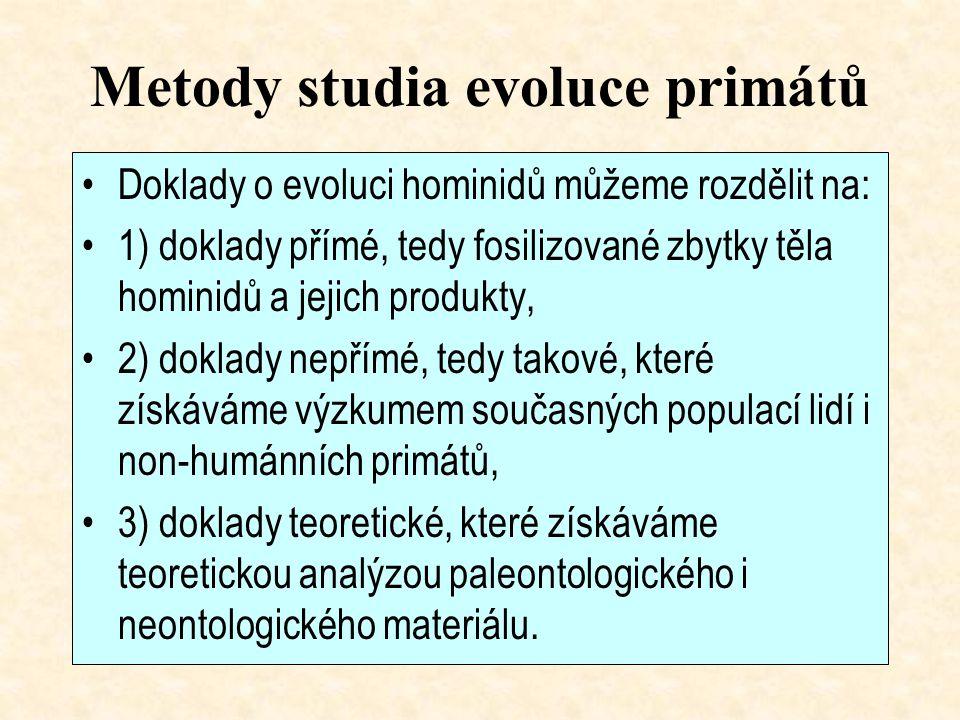 Metody studia evoluce primátů