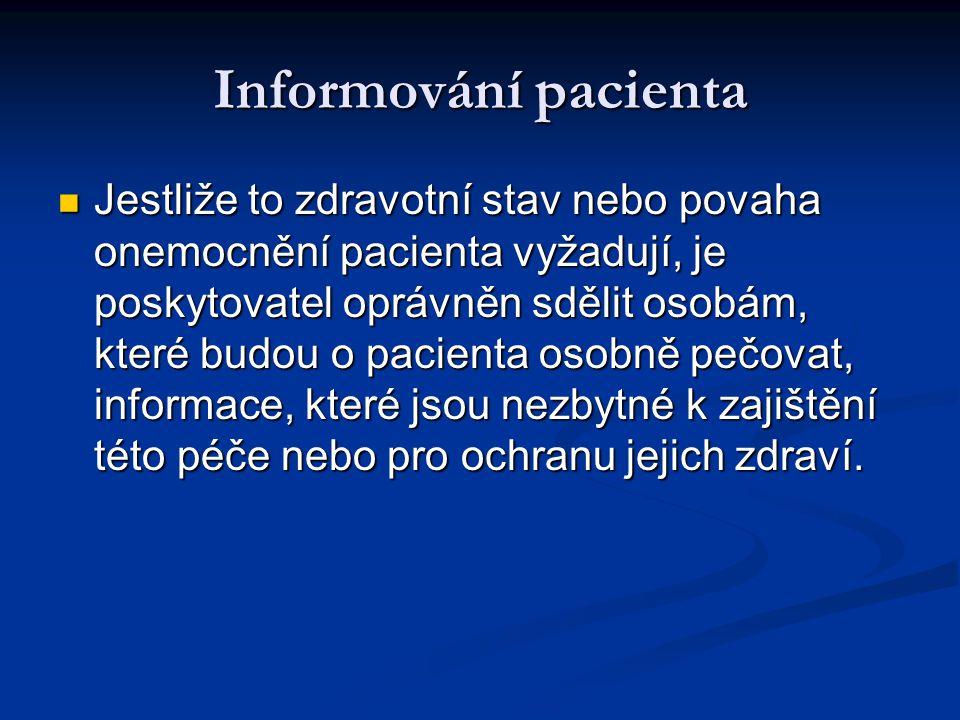 Informování pacienta