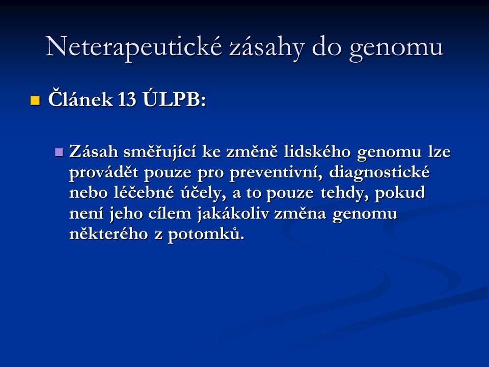 Neterapeutické zásahy do genomu