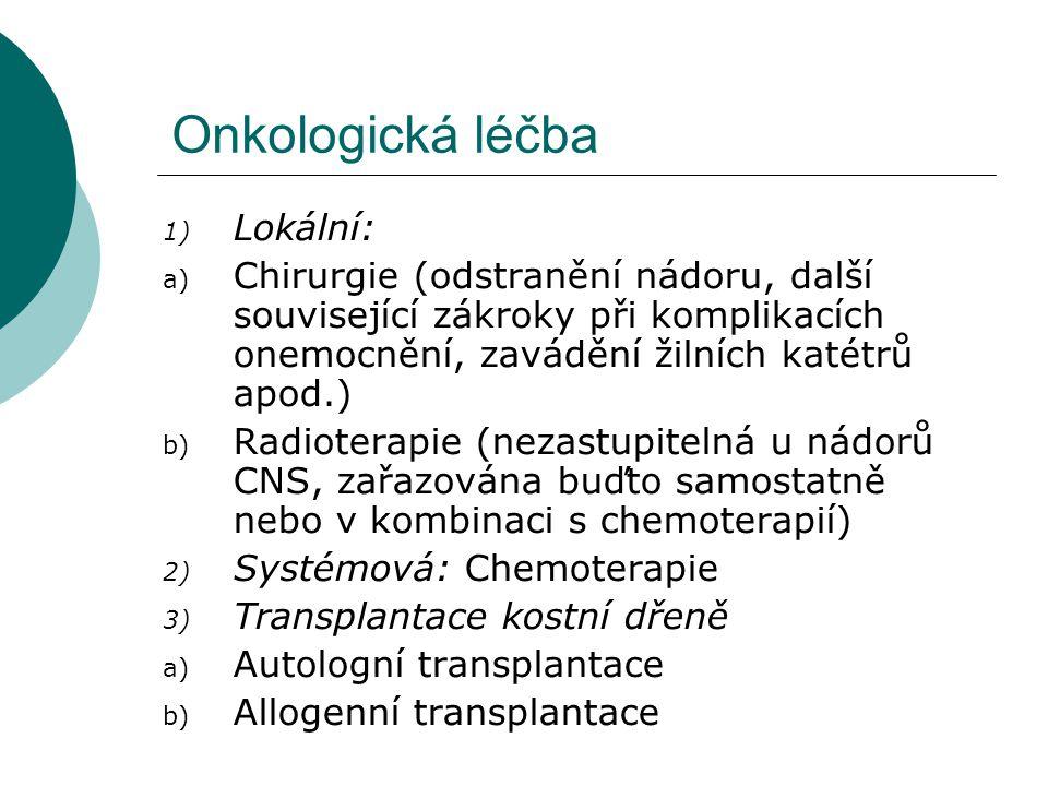 Onkologická léčba Lokální: