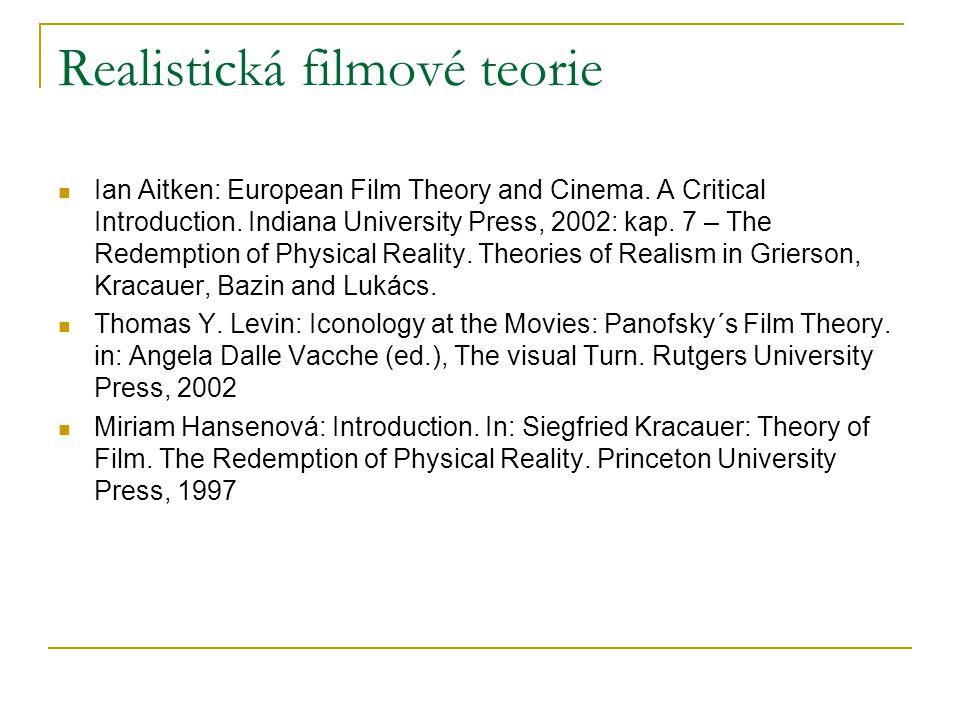 Realistická filmové teorie