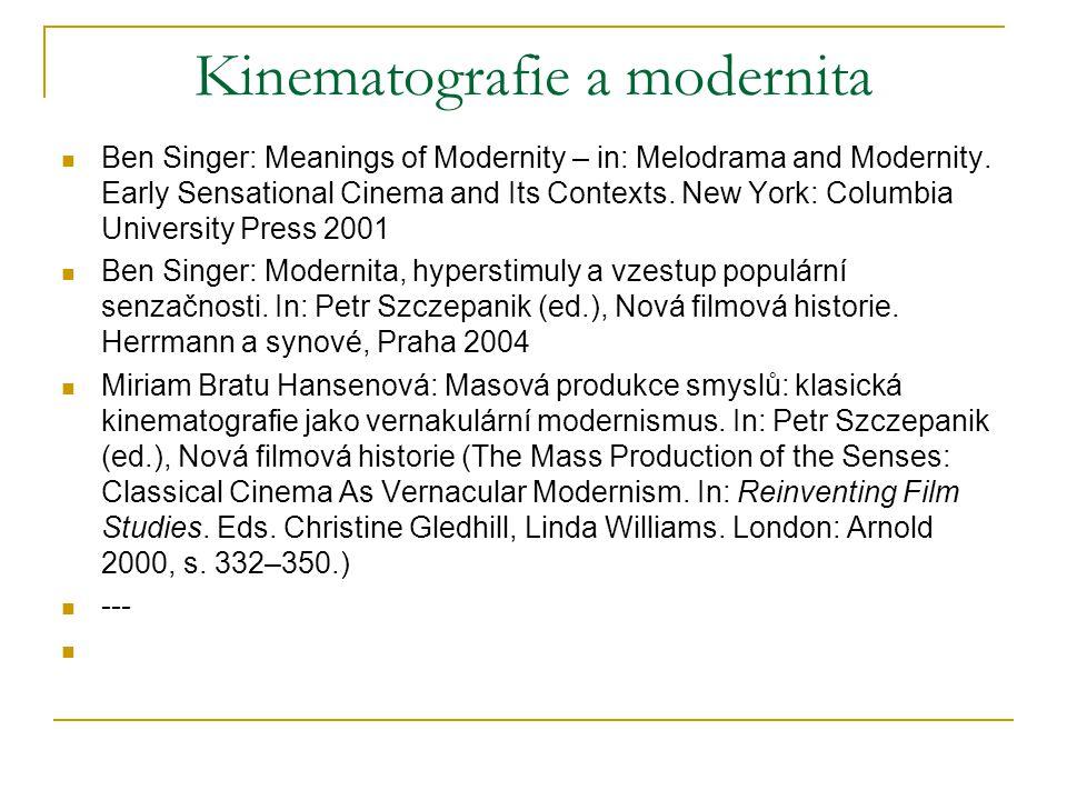 Kinematografie a modernita