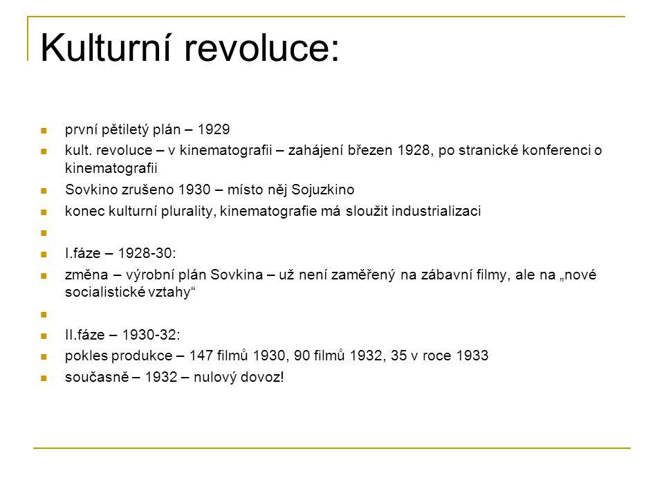 Kulturní revoluce: první pětiletý plán – 1929