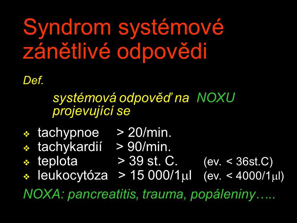 Syndrom systémové zánětlivé odpovědi