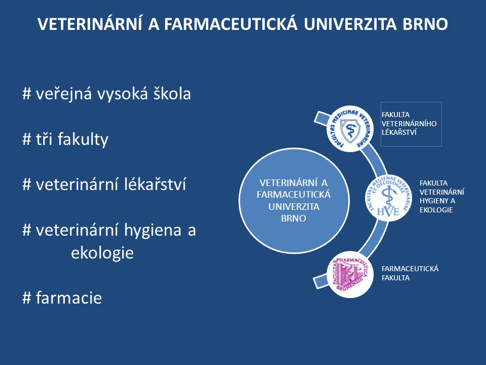 VETERINÁRNÍ A FARMACEUTICKÁ UNIVERZITA BRNO