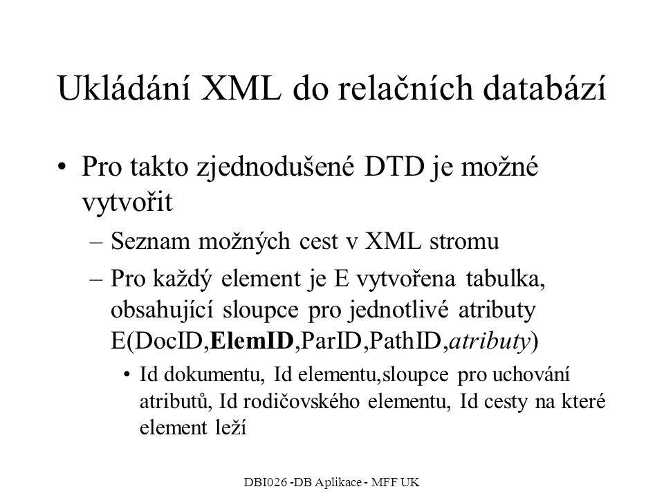 Ukládání XML do relačních databází