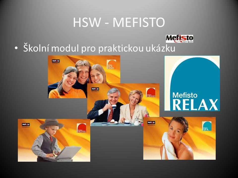 HSW - MEFISTO Školní modul pro praktickou ukázku
