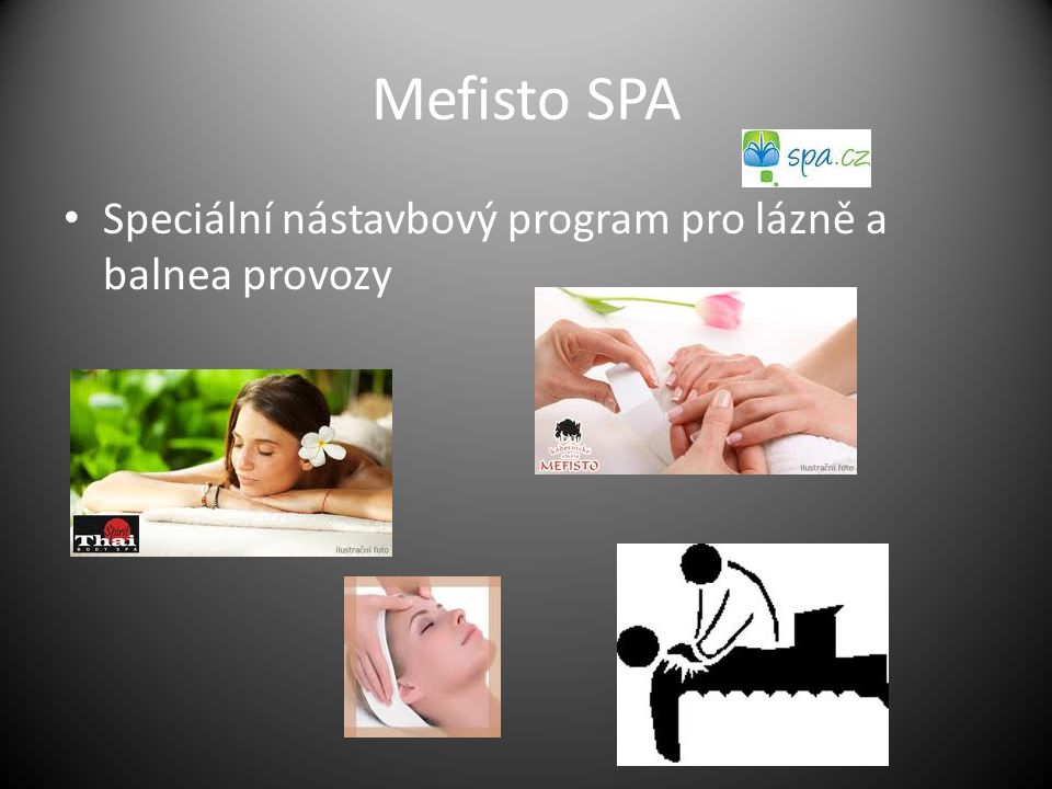 Mefisto SPA Speciální nástavbový program pro lázně a balnea provozy