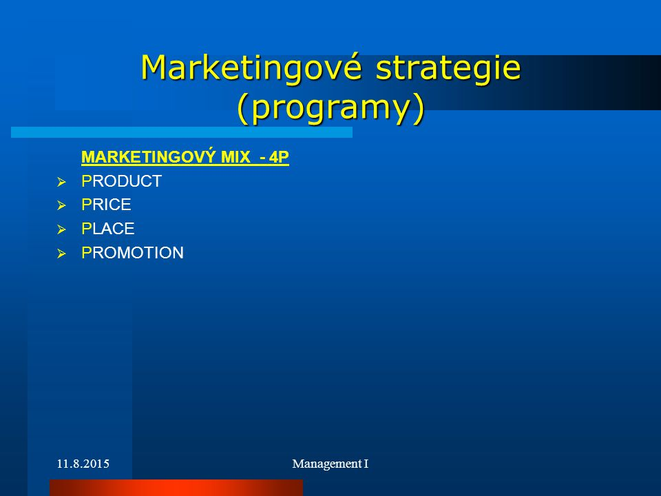 Marketingové strategie (programy)