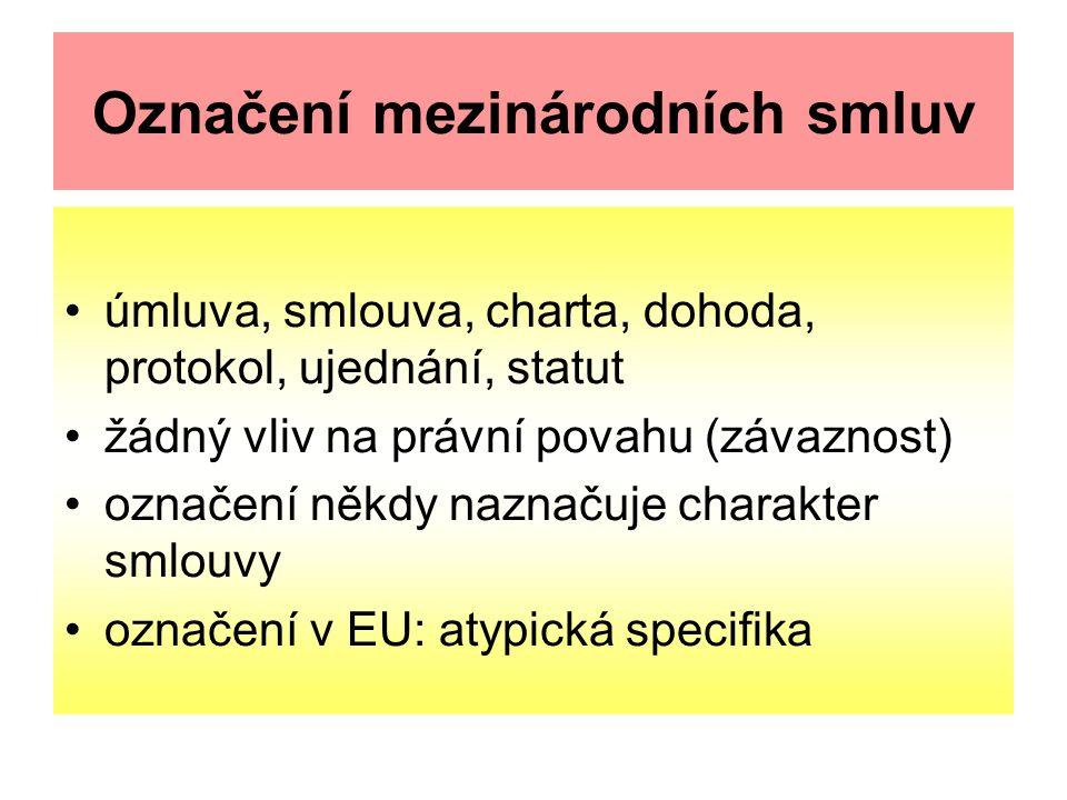 Označení mezinárodních smluv