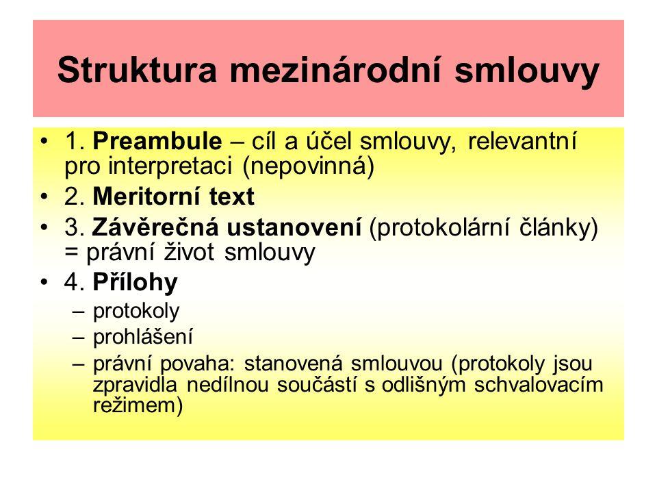 Struktura mezinárodní smlouvy