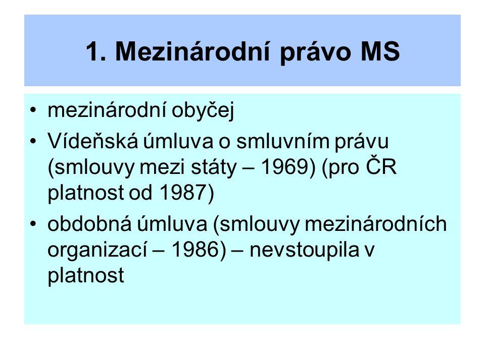 1. Mezinárodní právo MS mezinárodní obyčej