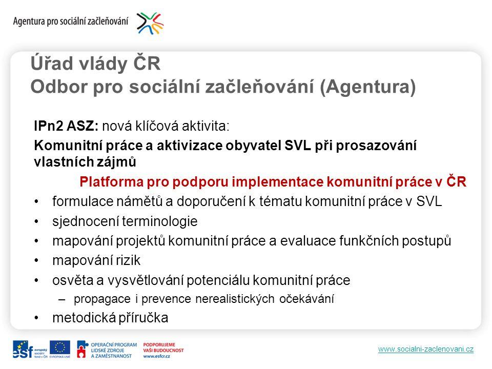 Úřad vlády ČR Odbor pro sociální začleňování (Agentura)