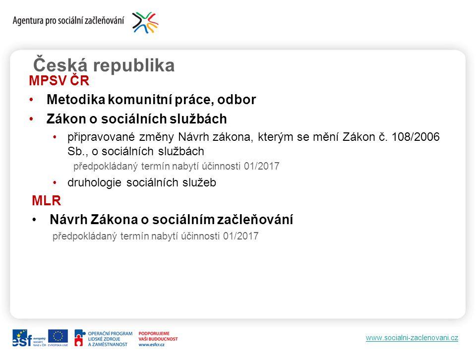 Česká republika MPSV ČR Metodika komunitní práce, odbor
