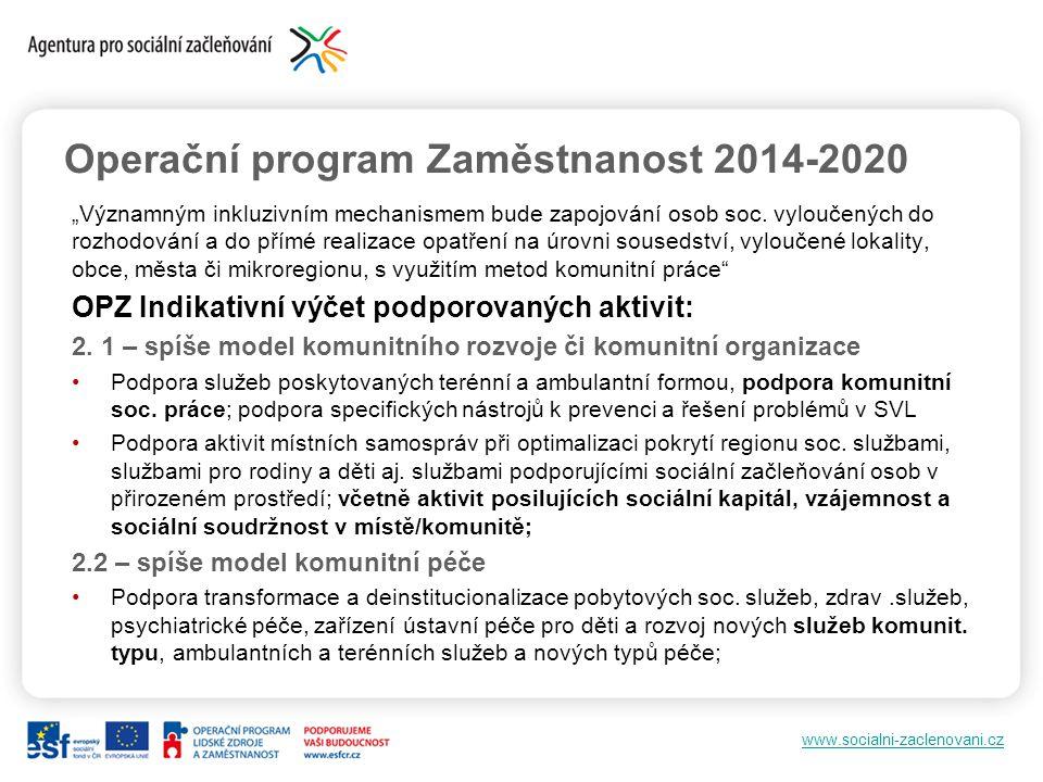 Operační program Zaměstnanost 2014-2020
