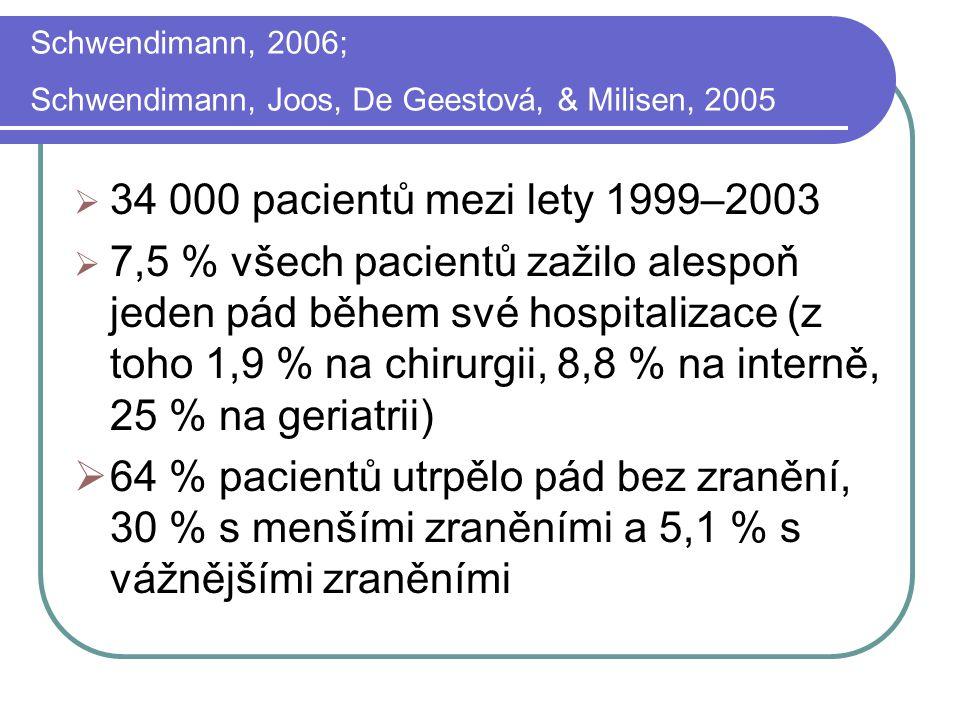Schwendimann, 2006; Schwendimann, Joos, De Geestová, & Milisen, 2005
