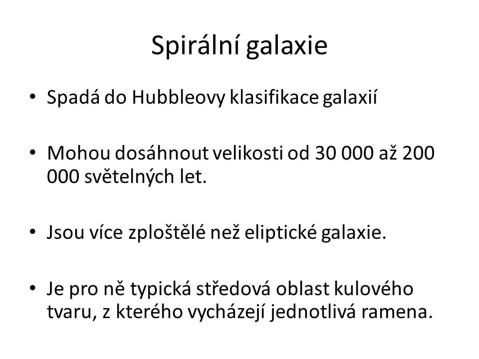 Spirální galaxie Spadá do Hubbleovy klasifikace galaxií
