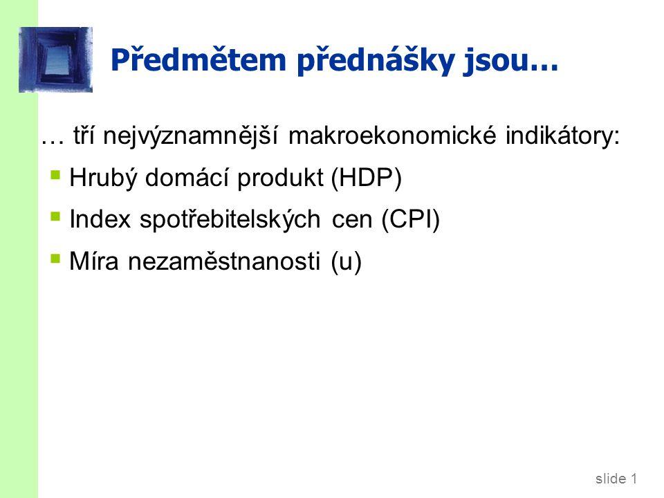 1.1. Hrubý domácí produkt