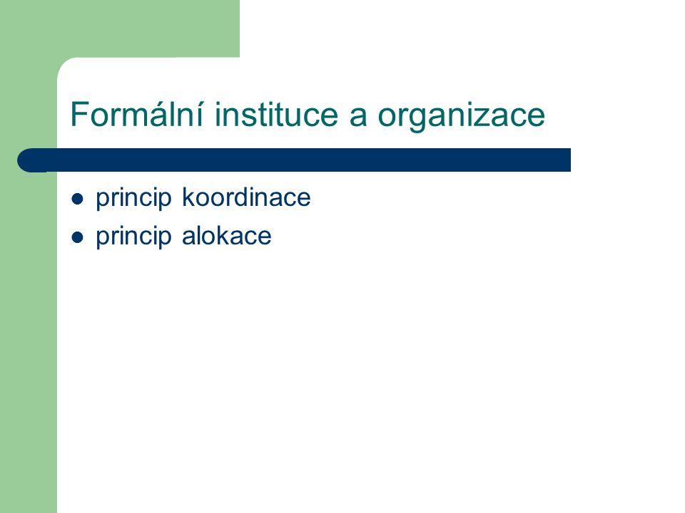 Formální instituce a organizace