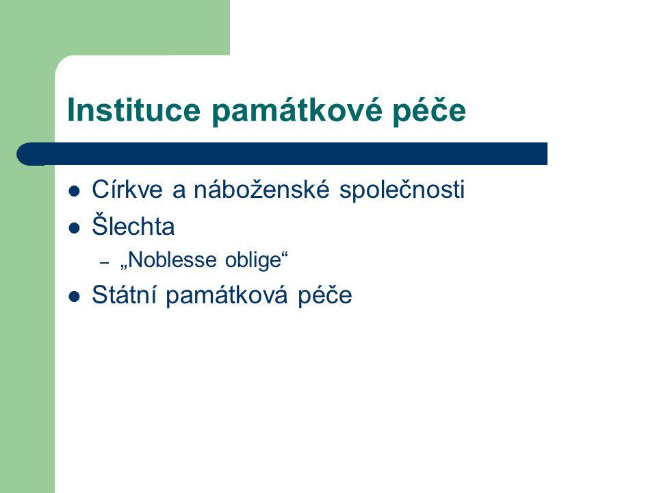 Instituce památkové péče