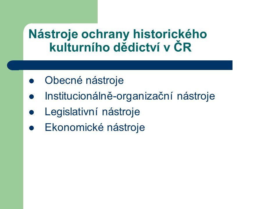 Nástroje ochrany historického kulturního dědictví v ČR
