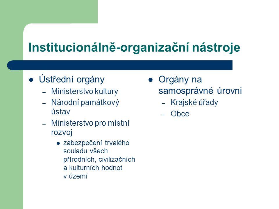 Institucionálně-organizační nástroje