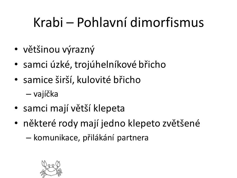 Krabi – Pohlavní dimorfismus