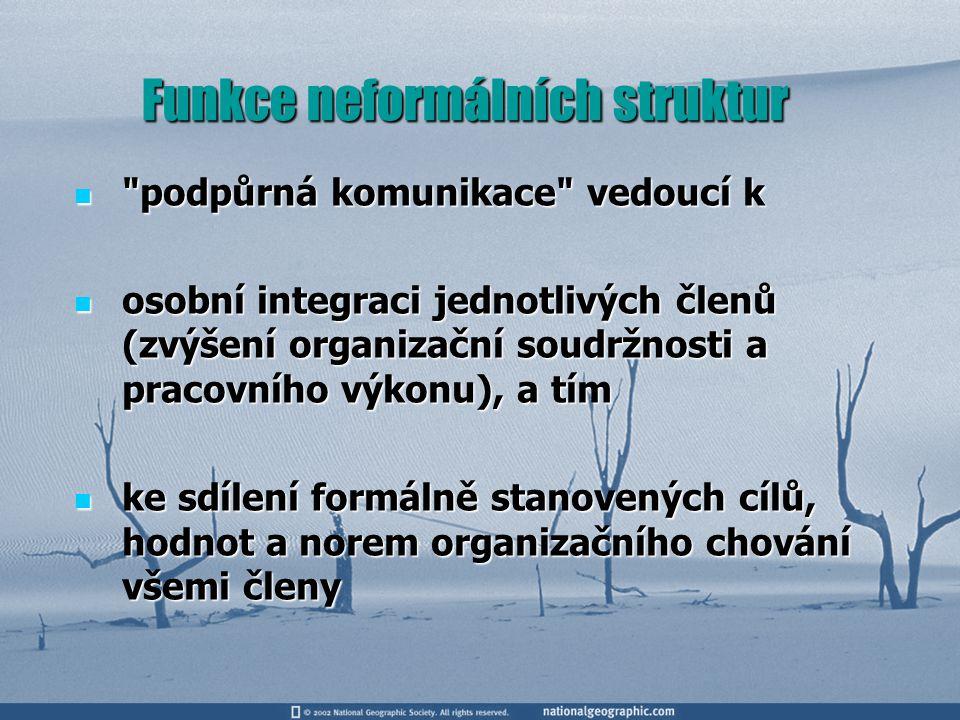 Funkce neformálních struktur