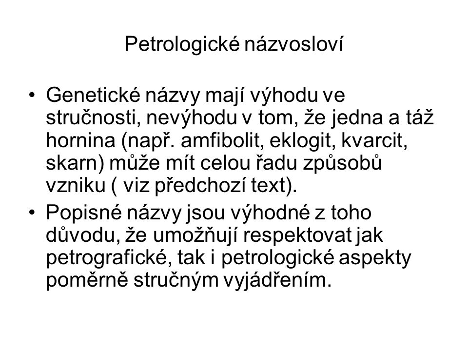 Petrologické názvosloví