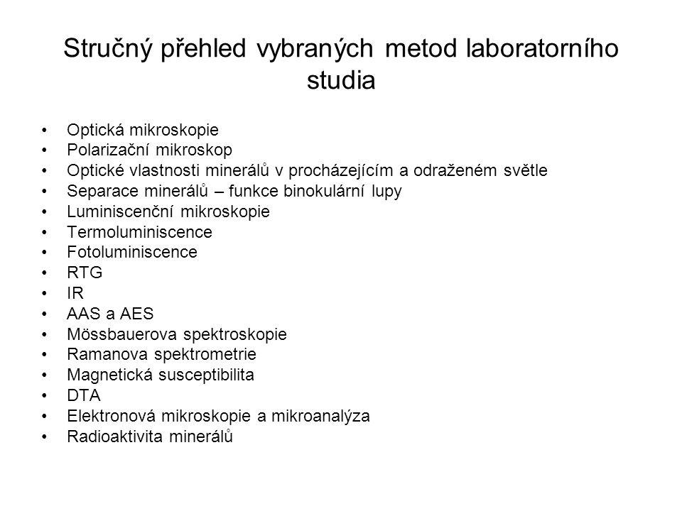Stručný přehled vybraných metod laboratorního studia