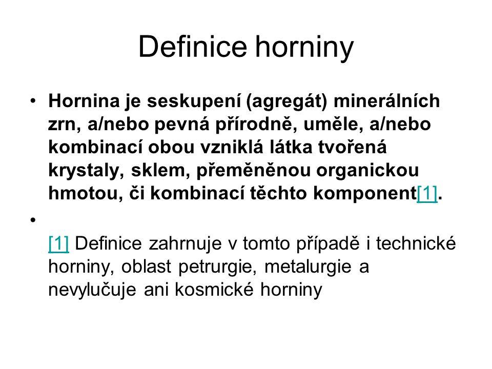Definice horniny