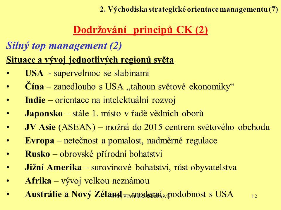 2. Východiska strategické orientace managementu (7)