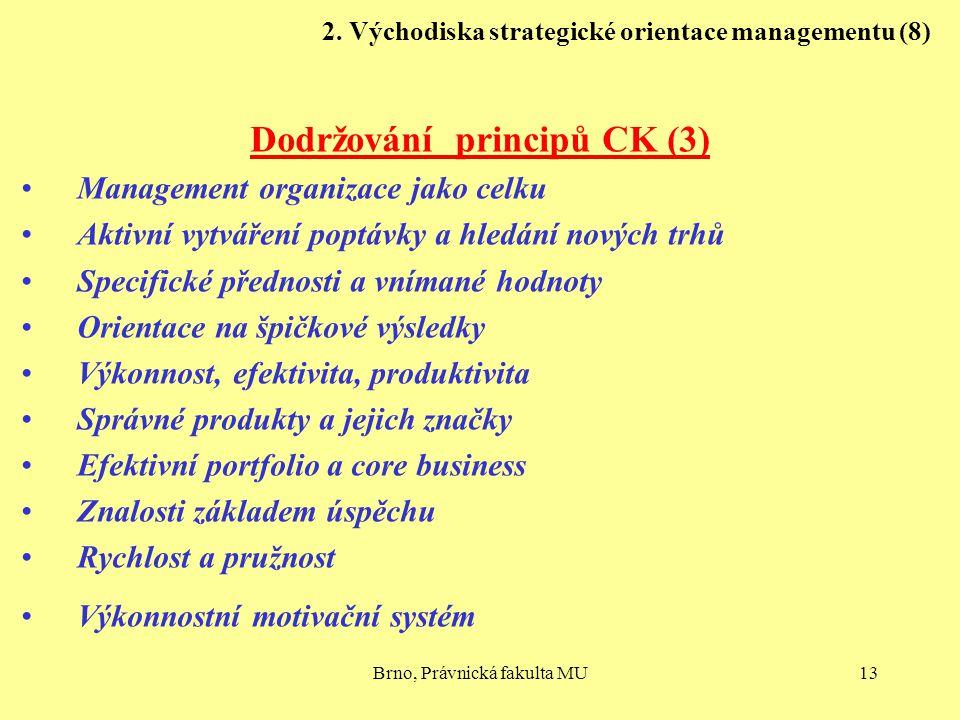 2. Východiska strategické orientace managementu (8)