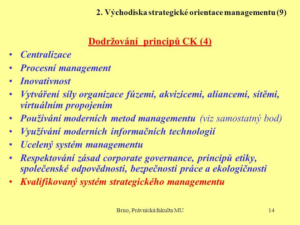 2. Východiska strategické orientace managementu (9)