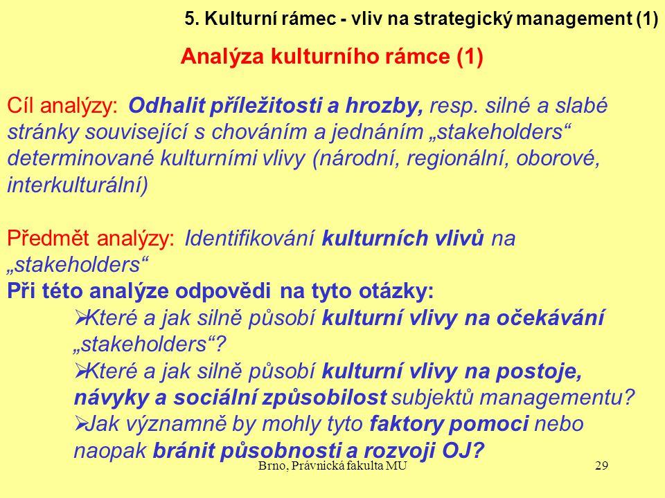 Analýza kulturního rámce (1)